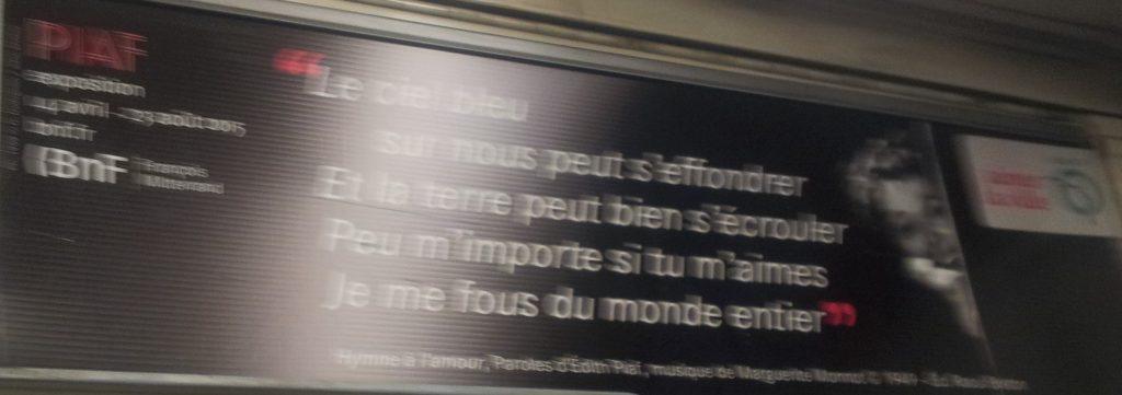 Texte de Piaf - Hymne à l'amour